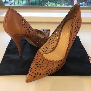 Kate Spade Lana Tan Floral Heels